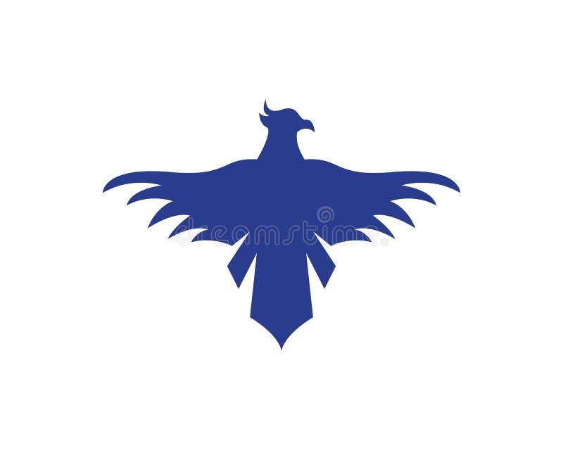 猎鹰老鹰鸟商标模板传染媒介象 库存例证