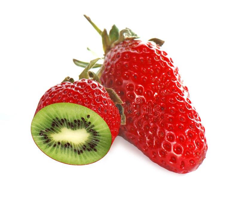 猕猴桃草莓 免版税库存照片