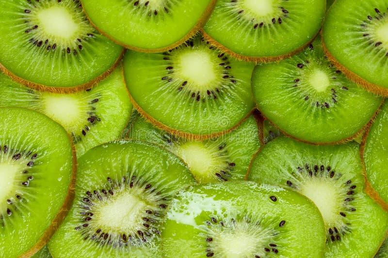 猕猴桃纹理绿色背景 免版税库存照片