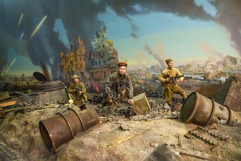 猛冲Reichstag的西洋镜 库存图片