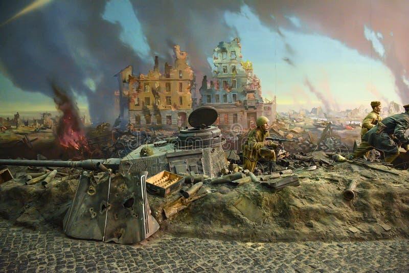 猛冲Reichstag的西洋镜 免版税库存图片