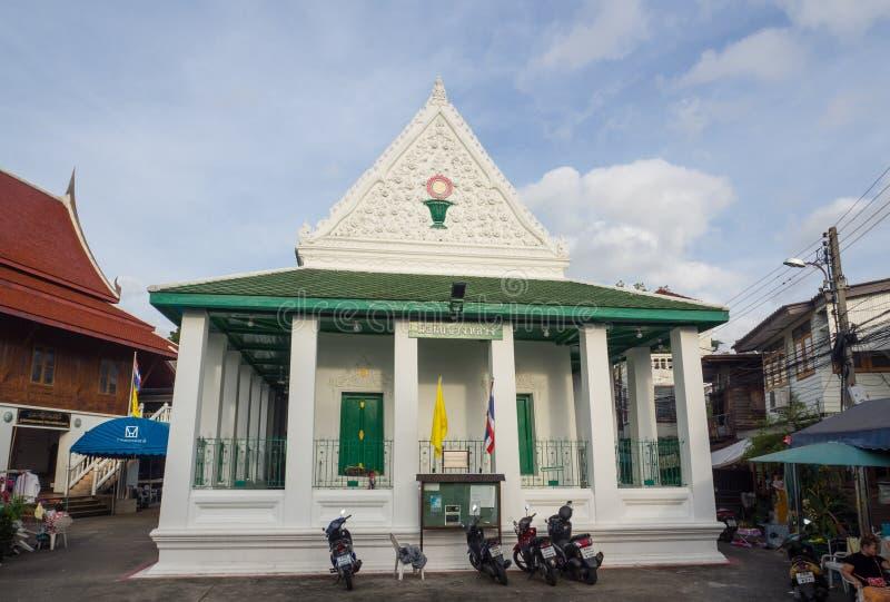 猛击一位回教客商建造的Luang清真寺叫到伊,它是从砖和混凝土的唯一的清真寺在传统泰国 免版税库存图片