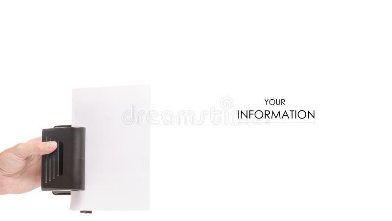 猛击纸样式的男性手 免版税库存照片