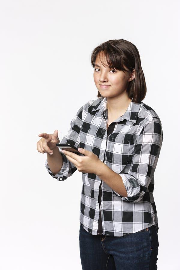 猛击青少年的女孩概念的照片  免版税库存图片