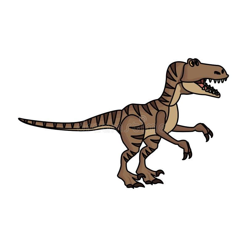 猛禽恐龙动画片 库存例证