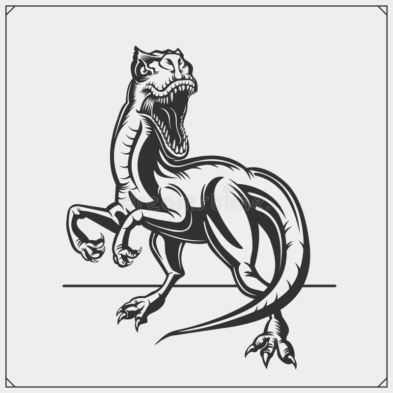 猛禽恐龙吉祥人 体育俱乐部的猛禽象征 r 库存例证