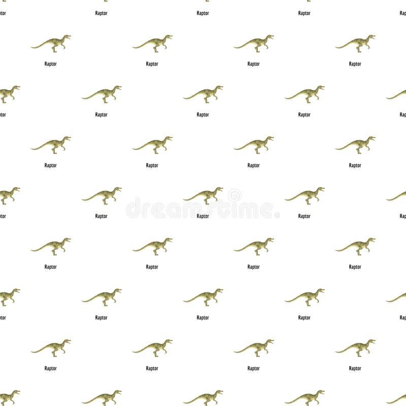 猛禽样式无缝的传染媒介 库存例证