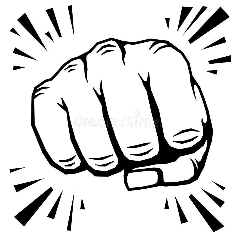 猛击的拳头手传染媒介例证 向量例证