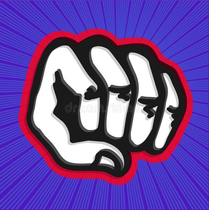 猛击的拳头的漫画书例证 皇族释放例证
