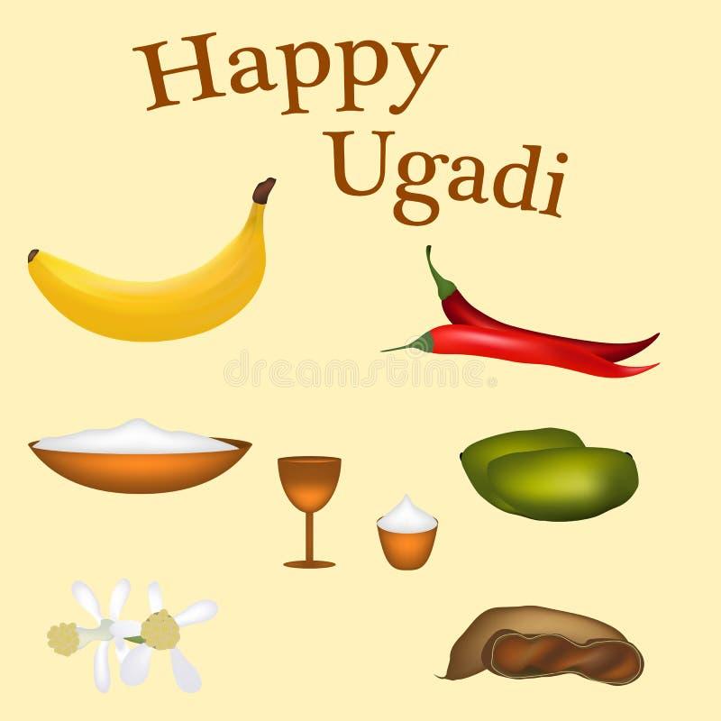 猜测印地安新年,好吃的东西Padva 库存例证