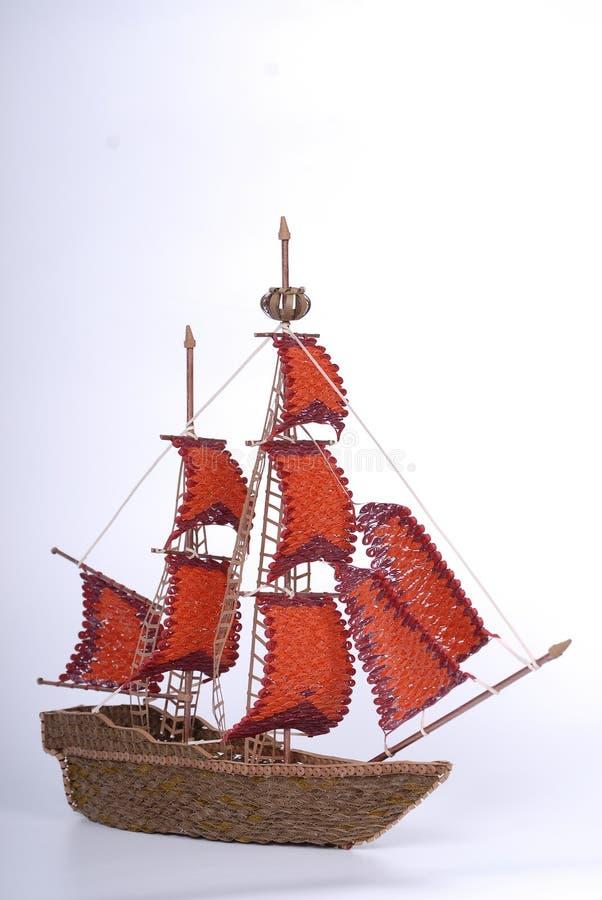 猩红色Sailes 免版税库存照片