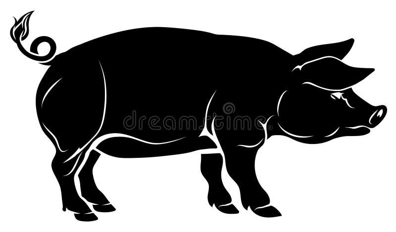 猪例证 向量例证
