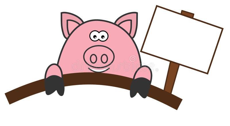 猪宰割或熟食 库存例证