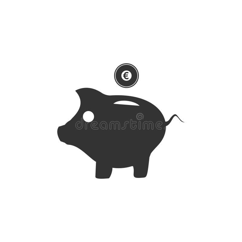 猪平展钱箱象 皇族释放例证
