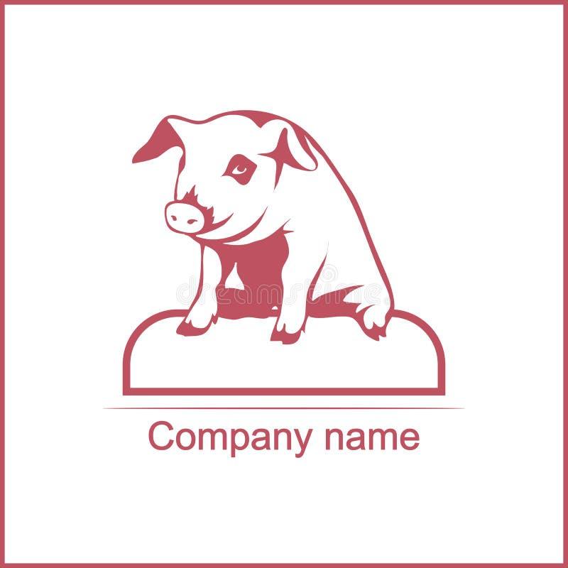 猪的传染媒介例证 向量例证