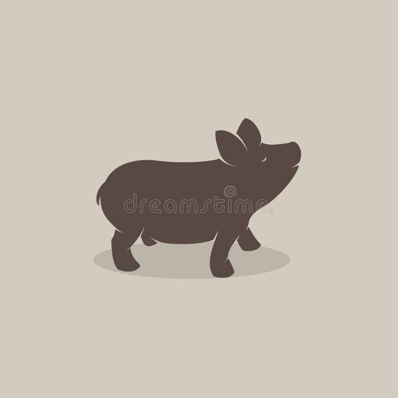 猪的向量图象 库存例证