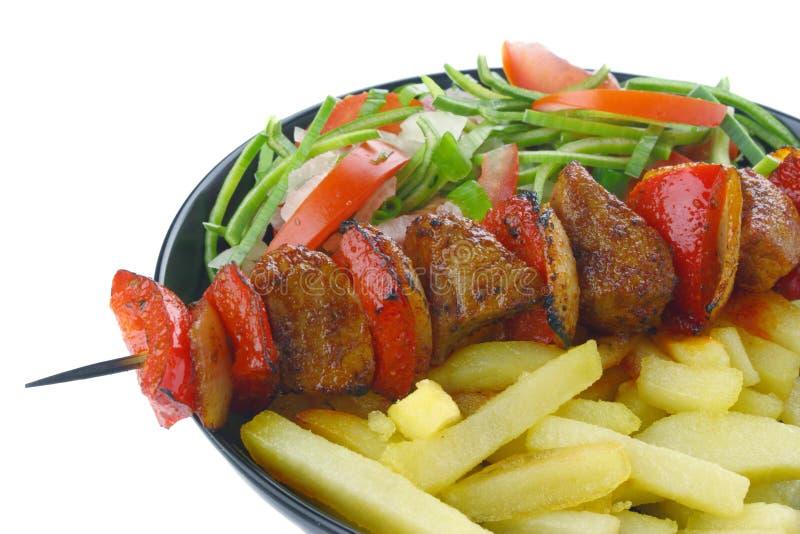 猪肉串 免版税库存图片