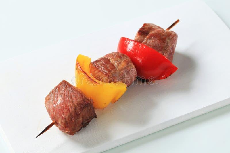 猪肉串 免版税库存照片