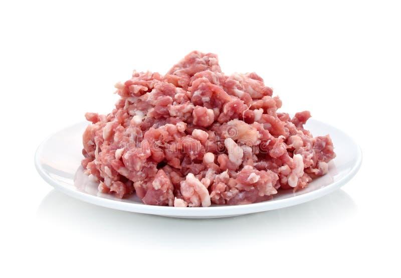 猪肉剁碎 免版税图库摄影