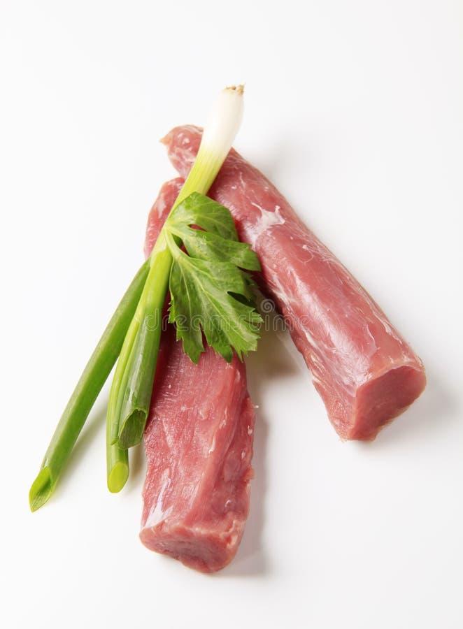 猪肉原始的里脊肉 免版税库存照片