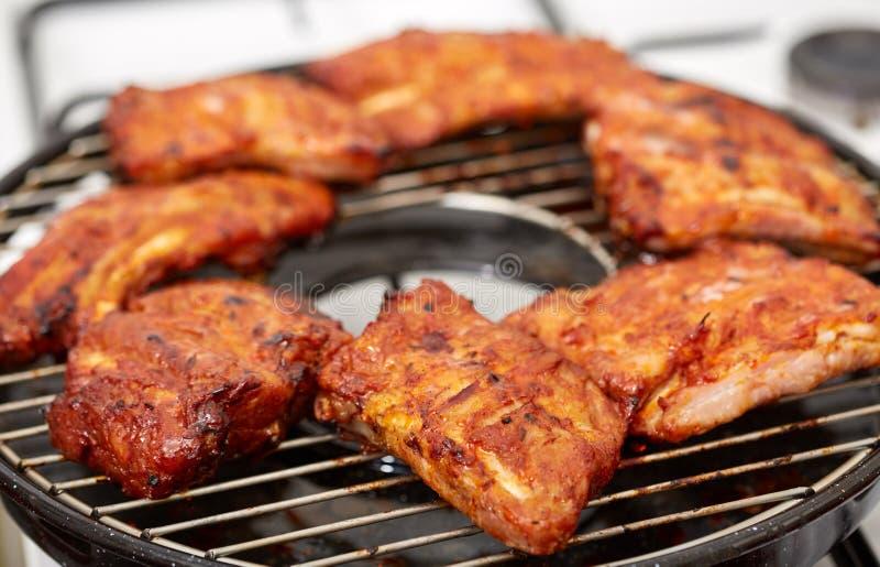猪肉排骨烤肉 免版税图库摄影