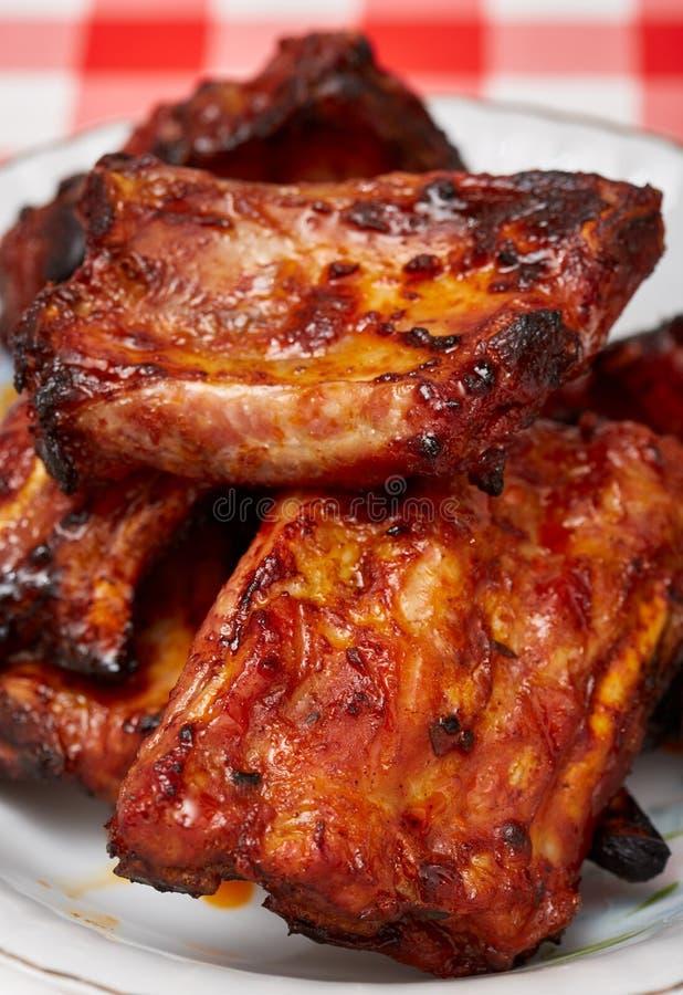 猪肉排骨烤肉 免版税库存图片