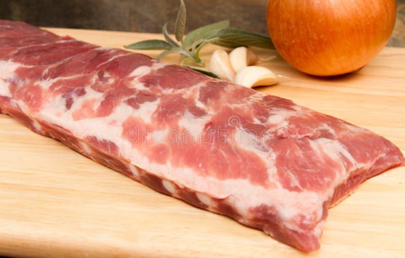 猪肉排骨 免版税库存照片