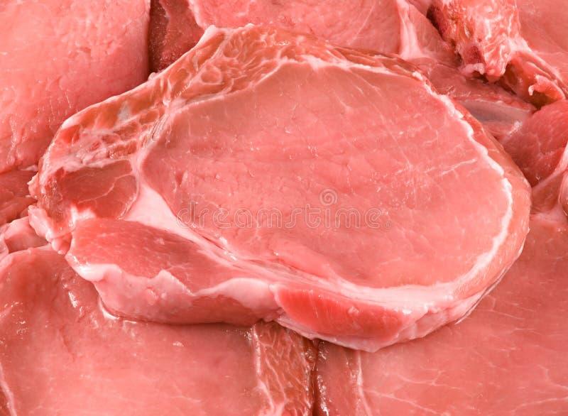 猪肉片断。 免版税库存照片