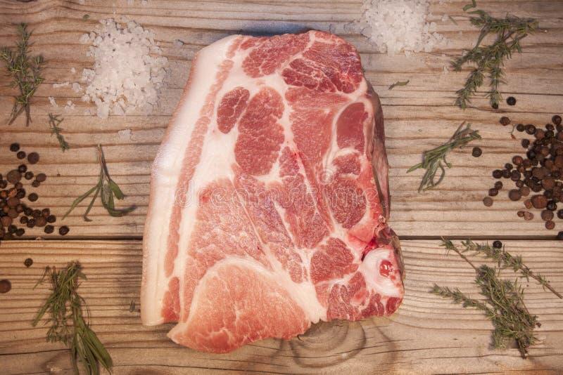 猪肉牛颈肉 免版税图库摄影