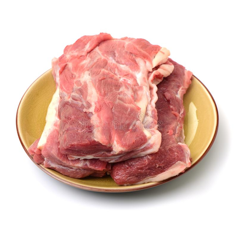 猪肉猪肉腰部  免版税库存图片