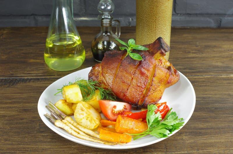 猪肉的开胃指关节 库存照片