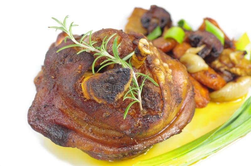 猪肉的开胃指关节 免版税库存照片