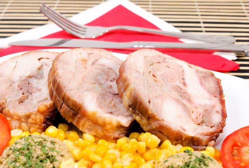 猪肉膳食 免版税库存照片