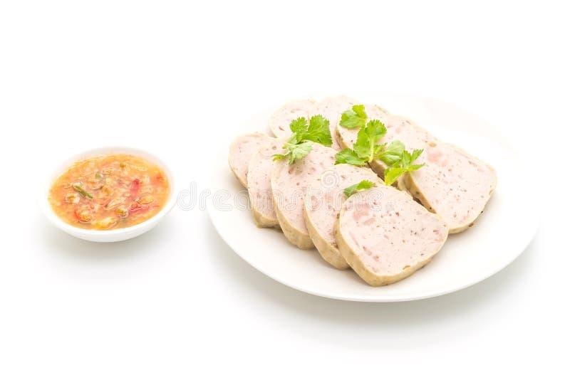 猪肉香肠越南或越南蒸的猪肉 免版税库存图片