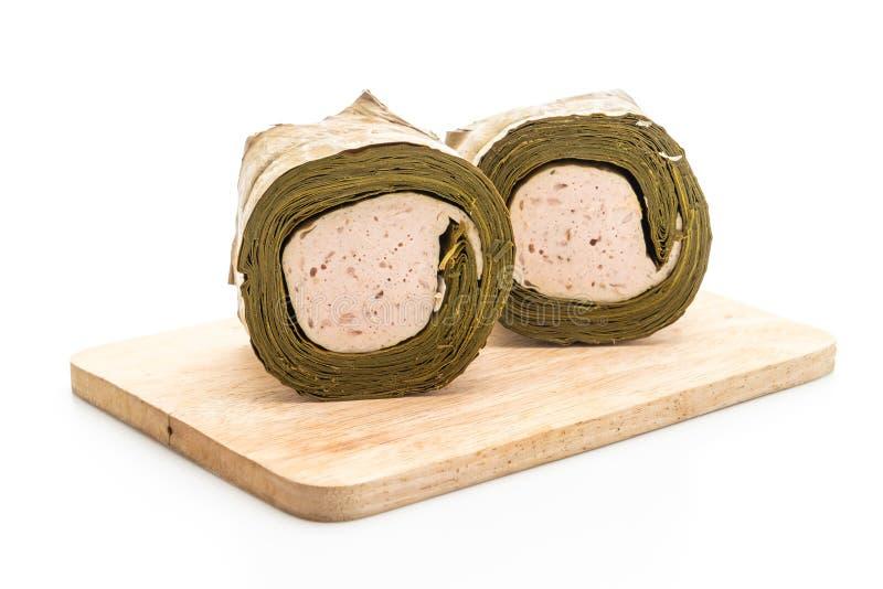 猪肉香肠越南或越南蒸的猪肉 免版税库存照片