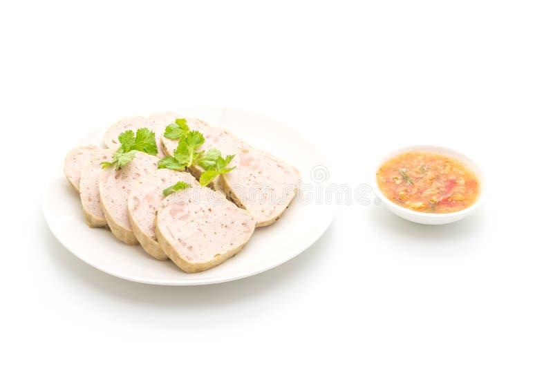猪肉香肠越南或越南蒸的猪肉 图库摄影