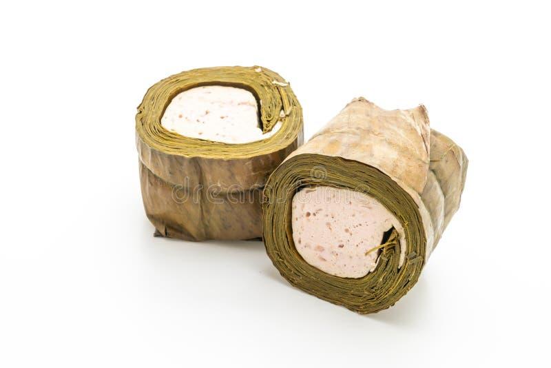 猪肉香肠越南或越南蒸的猪肉 免版税图库摄影