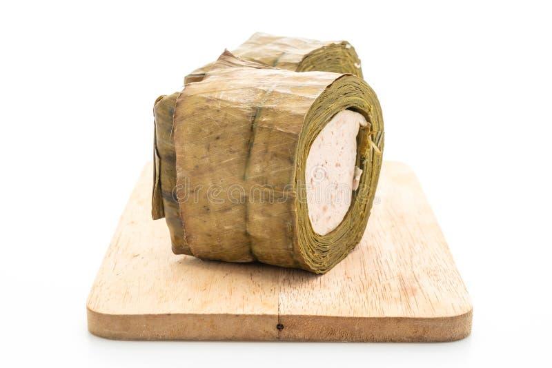 猪肉香肠越南或越南蒸的猪肉 库存图片