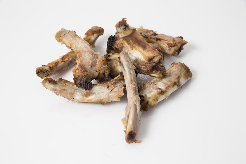 猪肉` s肋骨骨头 免版税图库摄影