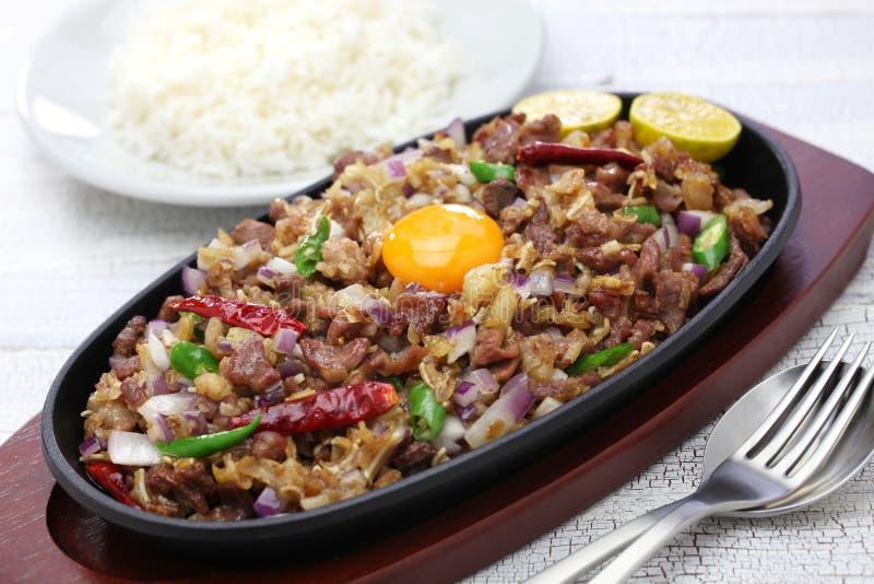 猪肉sisig,菲律宾烹调 图库摄影