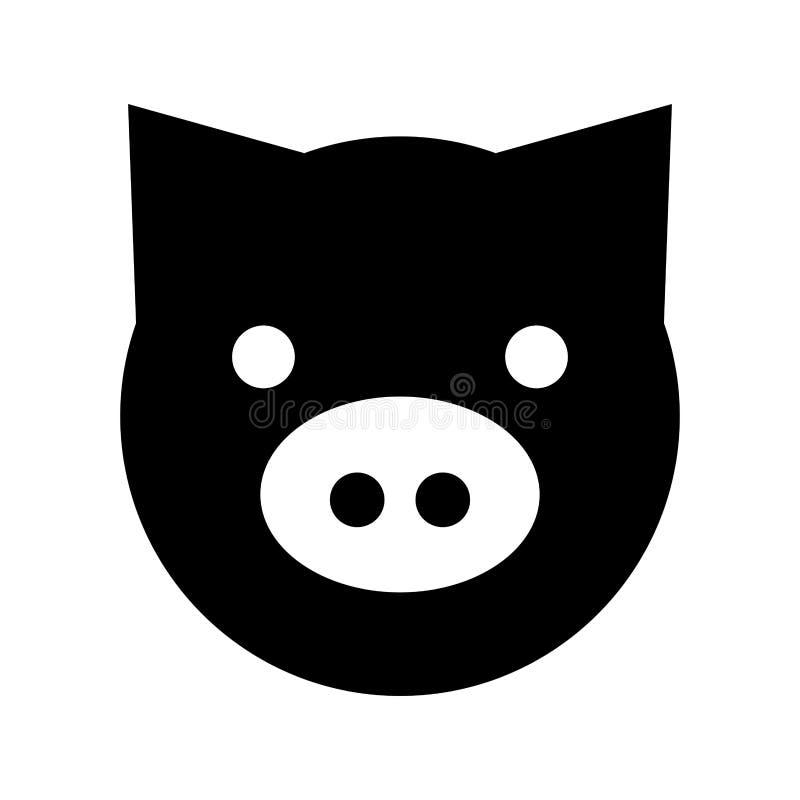 猪顶头农厂象 皇族释放例证