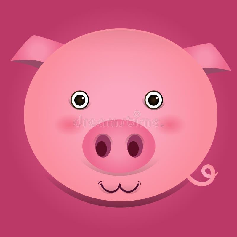 猪头的传染媒介图象 向量例证