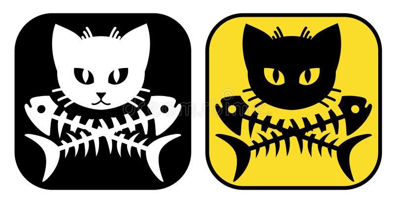 猫两骨交叉图形 向量例证