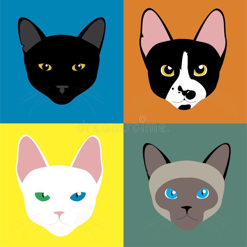 猫也是许多 免版税库存照片