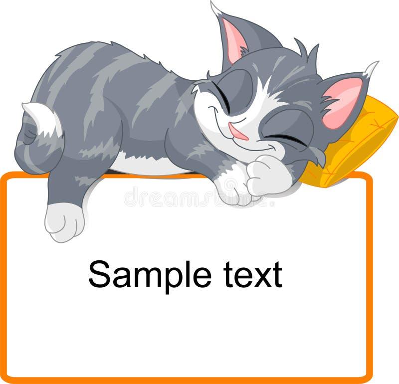猫休眠 向量例证