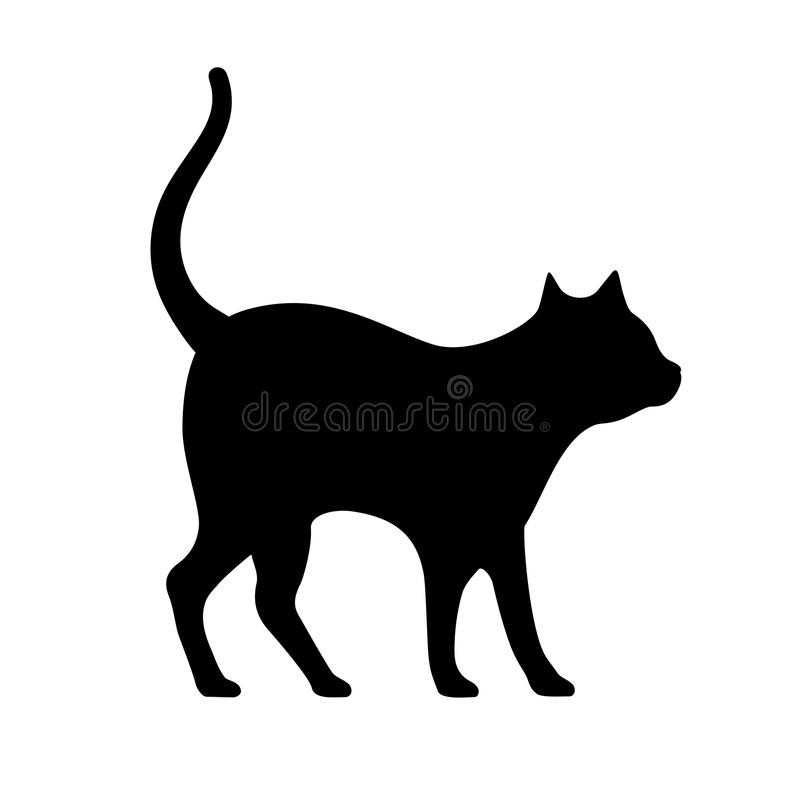 猫传染媒介剪影 向量例证