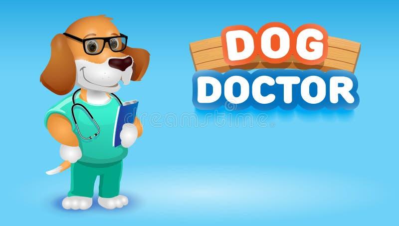 猫医生逗人喜爱的动画片动物 传染媒介剪贴美术例证