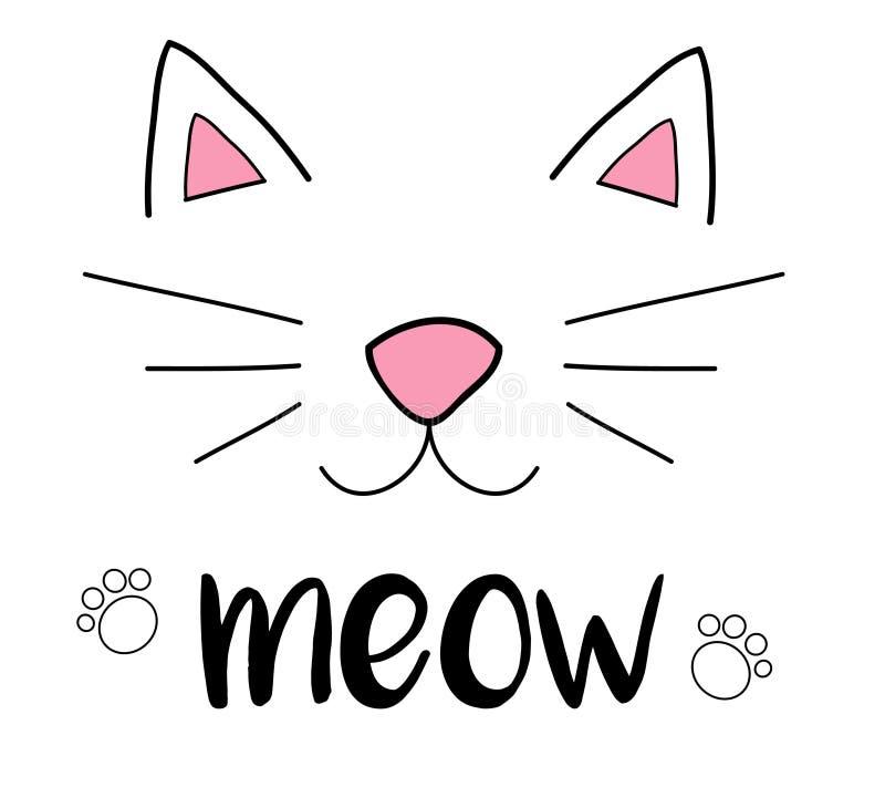 猫叫声猫 库存例证