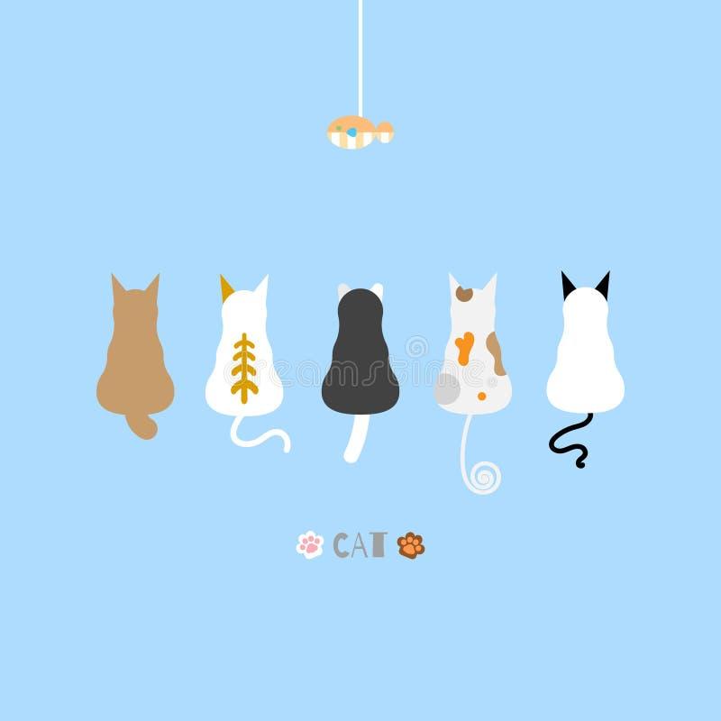 猫和鱼 库存例证