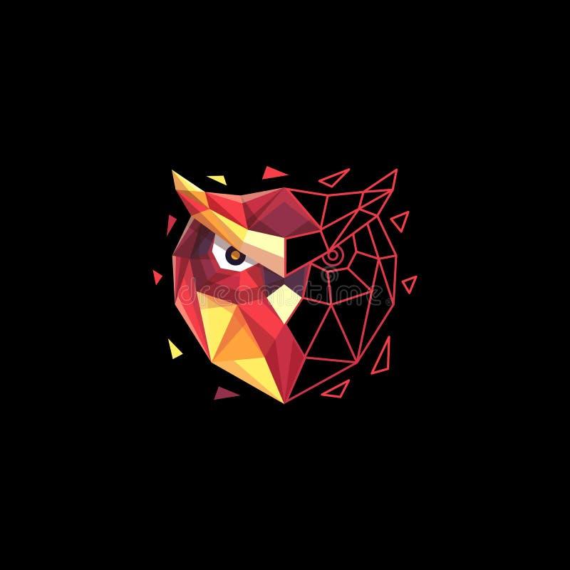 猫头鹰多角形五颜六色的概念例证传染媒介设计模板 皇族释放例证